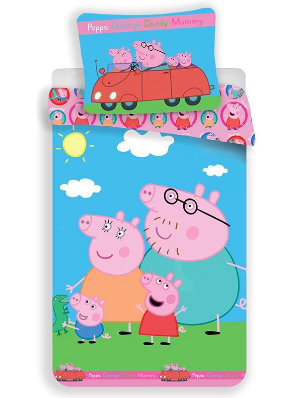 Peppa Pig Family Single Duvet Cover and Pillowcase Set