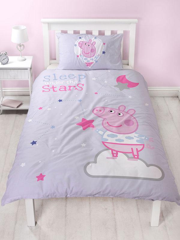 Peppa Pig Sleepy Single Duvet Cover and Pillowcase Set