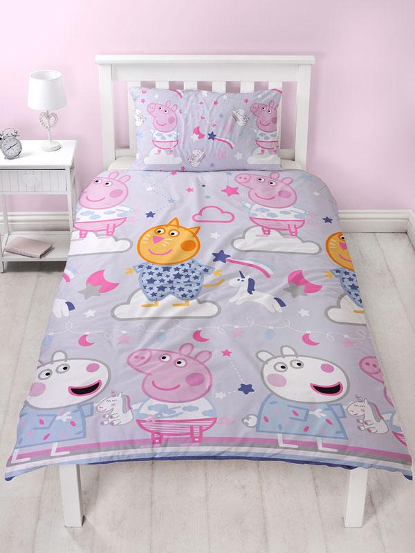 Peppa Pig Sleepy Single Duvet Cover Set - Rotary Design