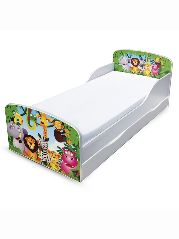 PriceRightHome Jungle Toddler Bed with Underbed Storage and Fully
