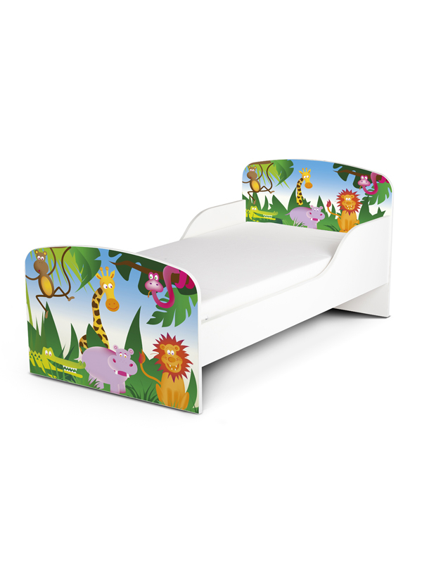 PriceRightHome Jungle Exclusive Design Toddler Bed with Fully Sprung