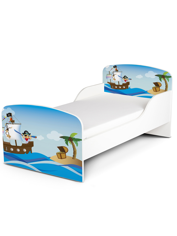 PriceRightHome Pirates Exclusive Design Toddler Bed with Fully Sprung