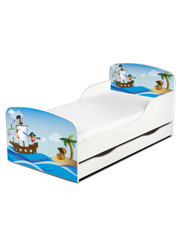 PriceRightHome Pirates Exclusive Design Toddler Bed with Underbed