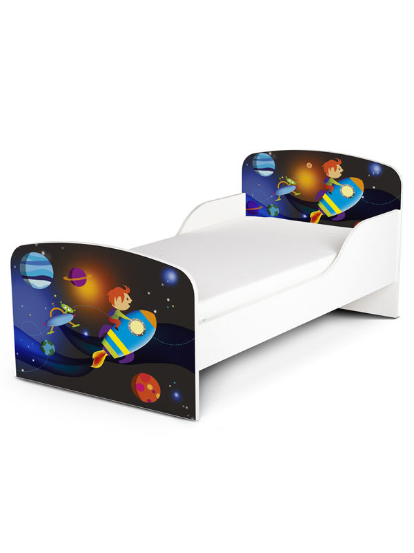 PriceRightHome Space Rocket Toddler Bed and Fully Sprung Mattress