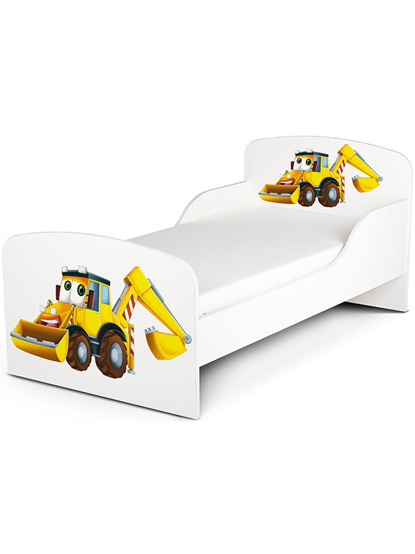 PriceRightHome Diggers Toddler Bed plus Fully Sprung Mattress