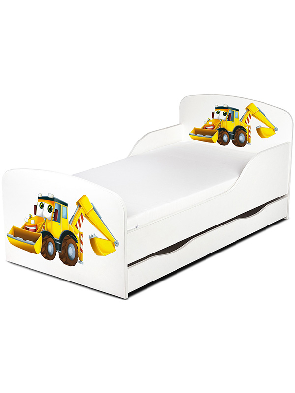 PriceRightHome Diggers Toddler Bed with Underbed Storage plus Fully