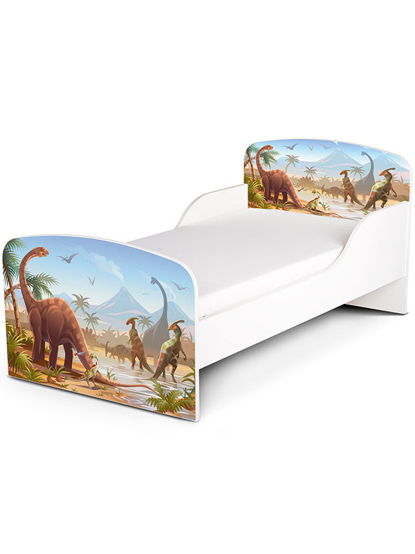 PriceRightHome Jurassic Dinosaurs Toddler Bed plus Fully Sprung