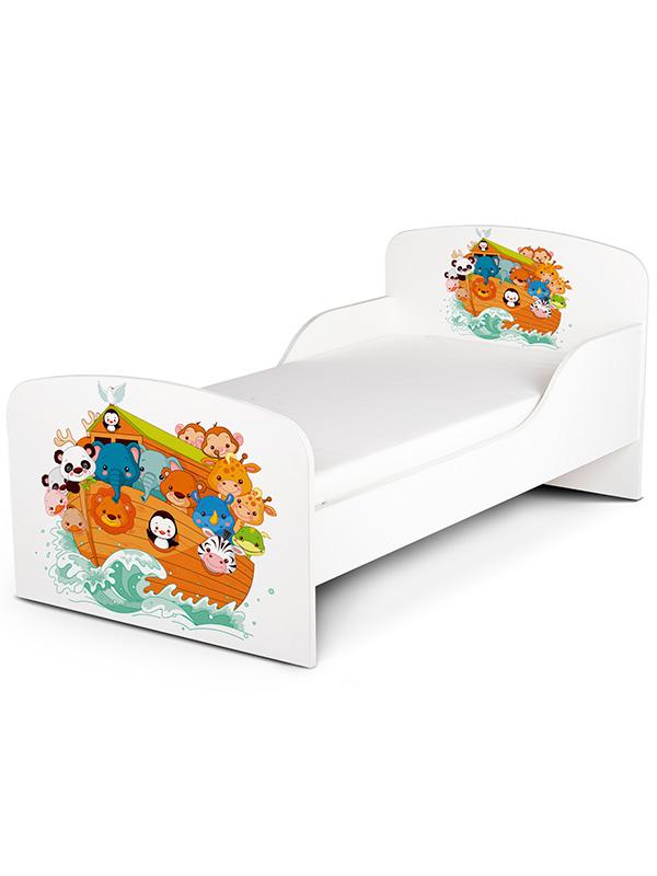 PriceRightHome Noah's Ark Animals Toddler Bed plus Fibre Mattress