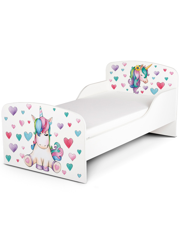 PriceRightHome Unicorn Toddler Bed plus Fully Sprung Mattress