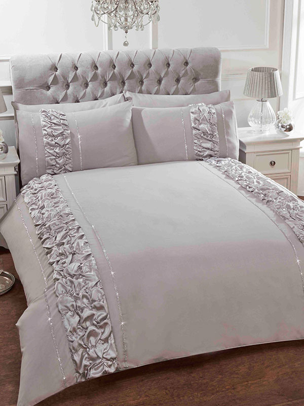 Provence Grey Super King Duvet Cover and Pillowcase Set