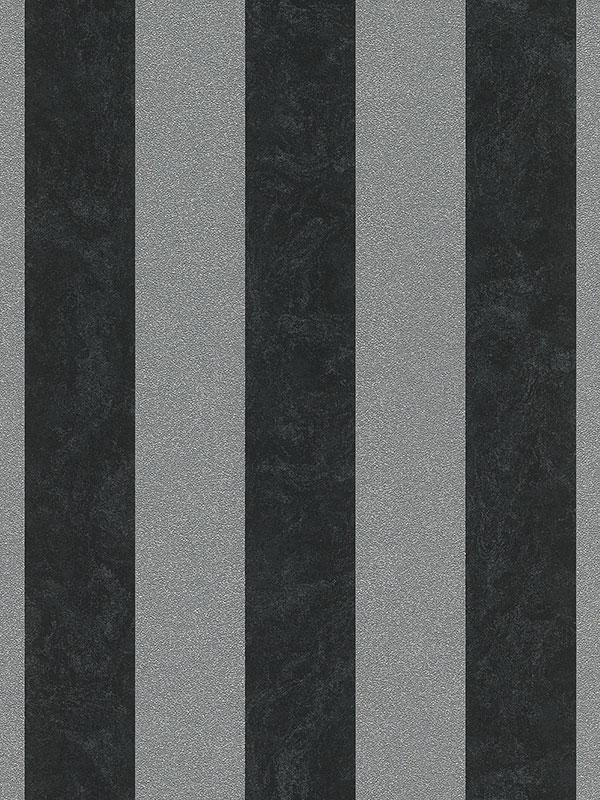Home & Garden|Wallpaper|Arsenal London Carat Glitter Stripe Wallpaper - Black and Silver - 13346-40