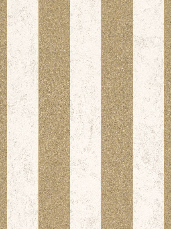 Home & Garden|Wallpaper|Arsenal London Carat Glitter Stripe Wallpaper - Cream and Gold - 13346-70