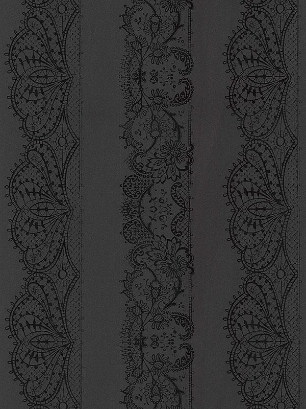 Home & Garden|Wallpaper|Arsenal London Catherine Lansfield Lace Effect Wallpaper - Black - 13379-44