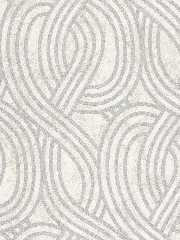 Home & Garden|Wallpaper|Arsenal London Carat Geometric Glitter Wallpaper - White and Silver - 113345-20