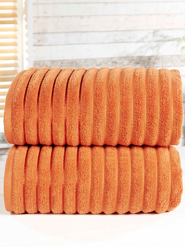 Ribbed 2 Piece Towel Bale Spice
