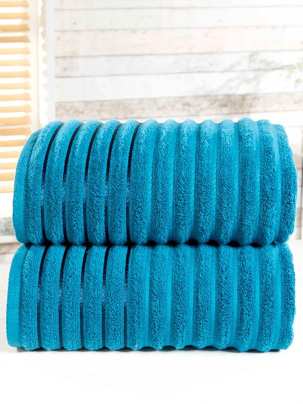Ribbed 2 Piece Towel Bale Teal
