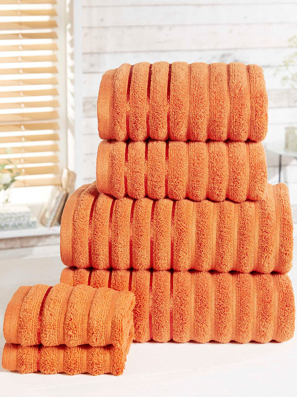 Ribbed 6 Piece Towel Bale Spice