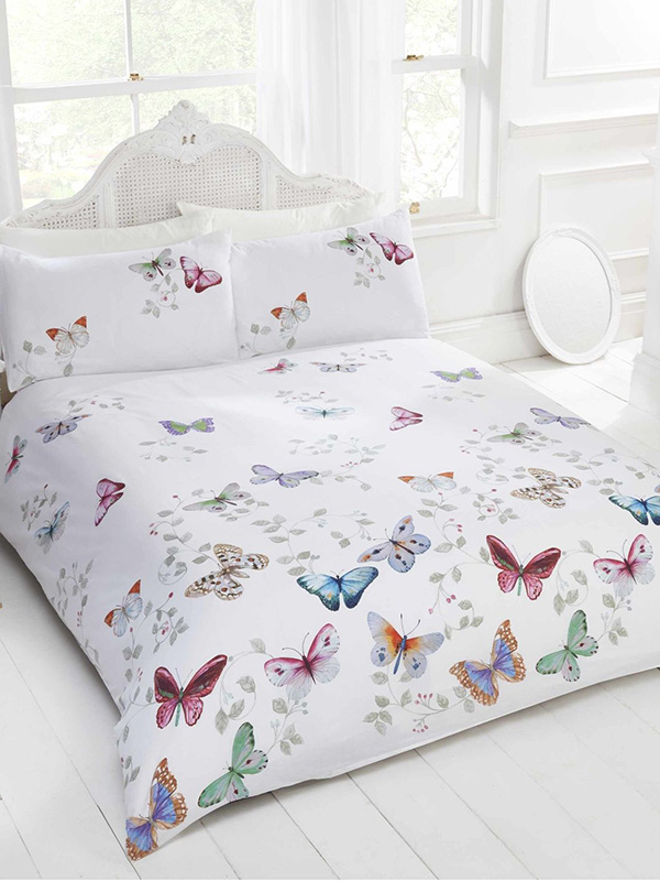 Mariposa Butterfly Double Duvet Cover and Pillowcase Set