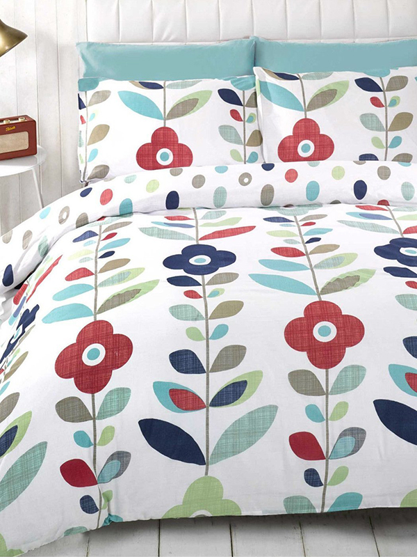 Lulu Floral Double Reversible Duvet Cover and Pillowcase Set