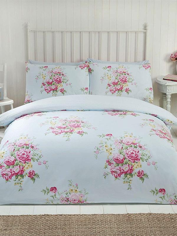 Maisie Floral King Size Duvet Cover Set - Teal