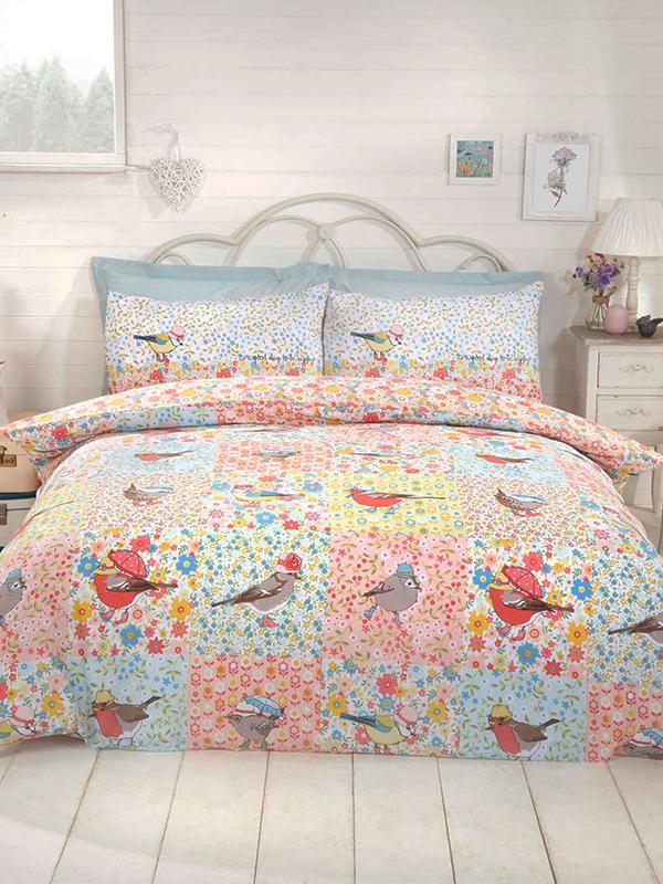 Hey Birdie Single Duvet Cover and Pillowcase Set
