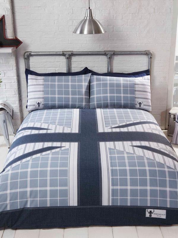 Cool Britannia Single Duvet Cover Set - Blue