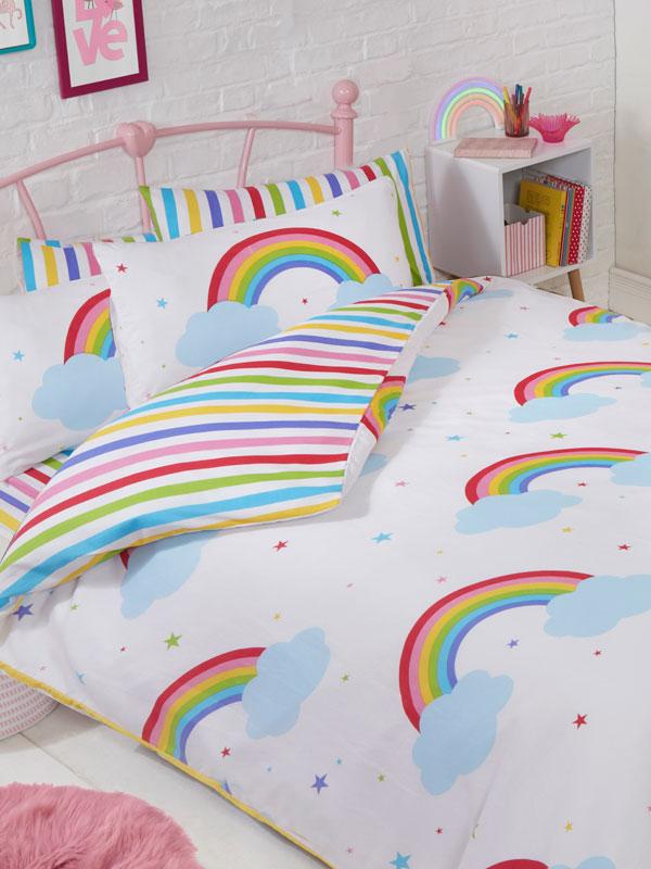 Rainbow Sky Double Duvet Cover And, Disney Belle Double Bedding