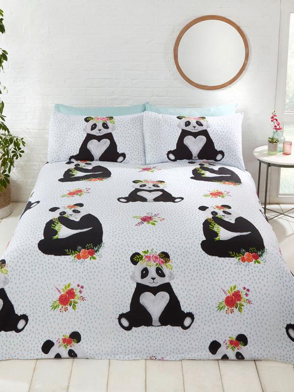 Pandas Double Duvet Cover and Pillowcase Set