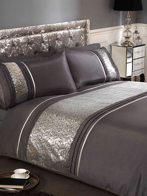 Ritz Silver King Duvet Cover And Pillowcase Set