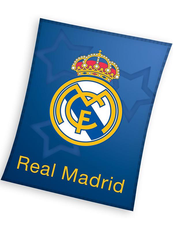 Real Madrid Blue Fleece Blanket