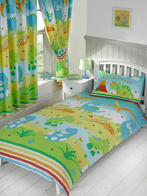 roar like a dinosaur junior toddler duvet cover and pillowcase set