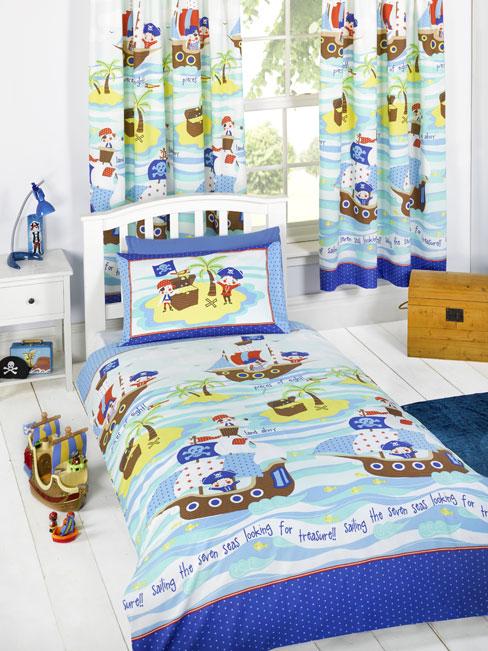 Seven Seas Pirates Single Duvet Cover and Pillowcase Set