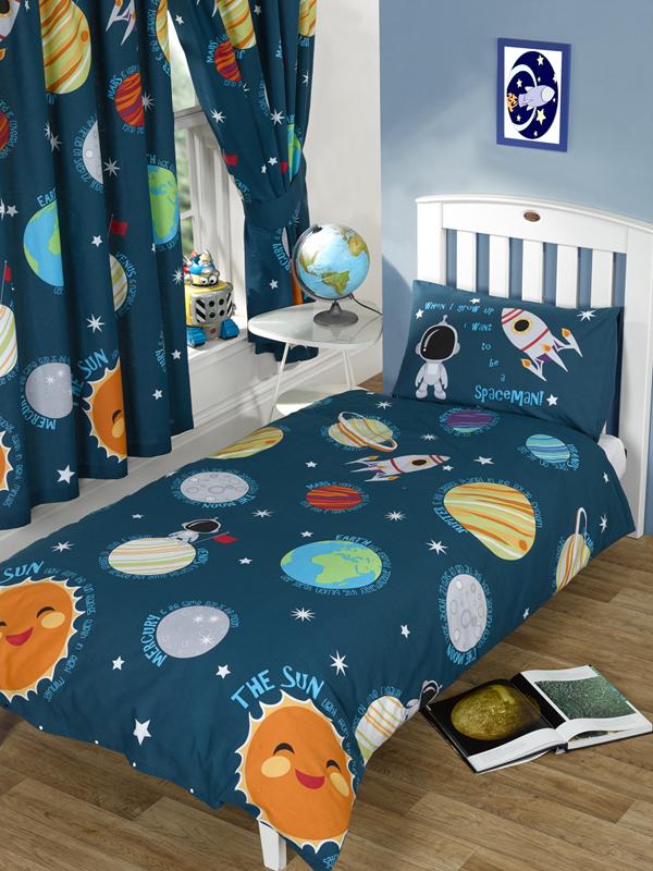 solar system junior toddler duvet cover and pillowcase set