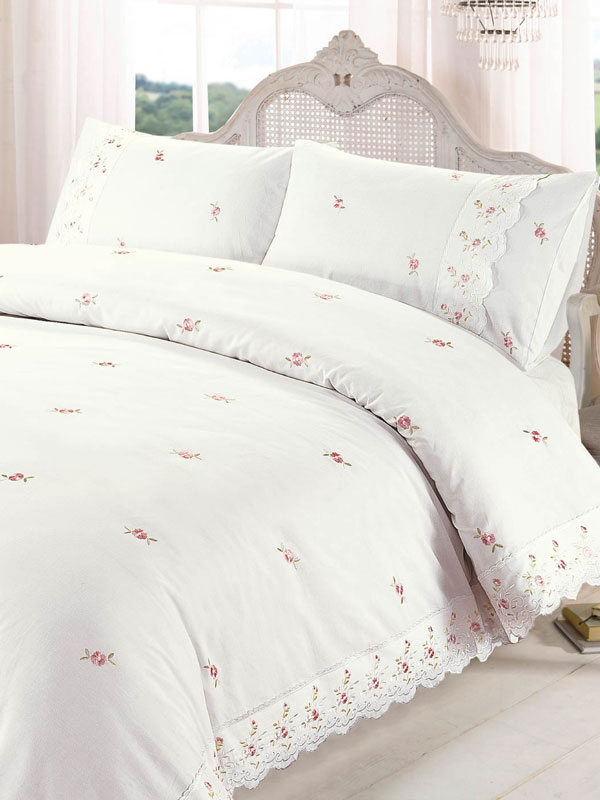 Sophie Floral Cream Super King Duvet Cover and Pillowcase Set