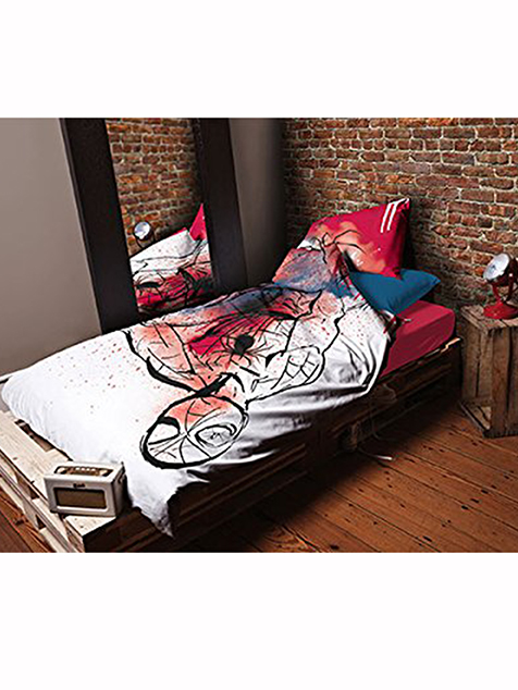 spiderman underground single duvet cover and pillowcase set