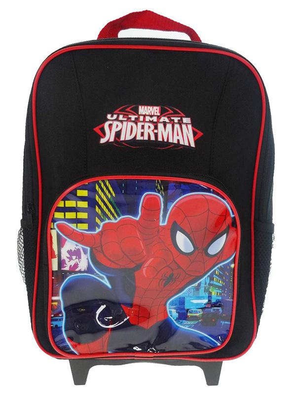 Spiderman Neon Premium Wheeled Trolley Bag