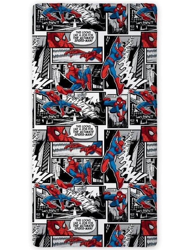 Spiderman Comic Single Fitted Sheet