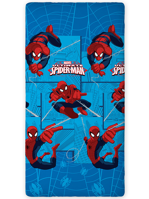 Spiderman City Single Fitted Sheet