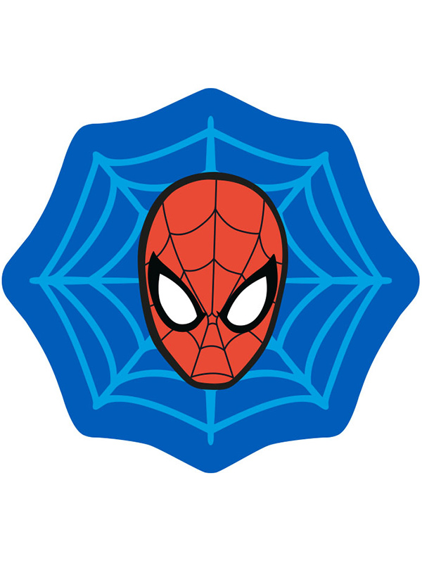 spiderman abstract shaped rug