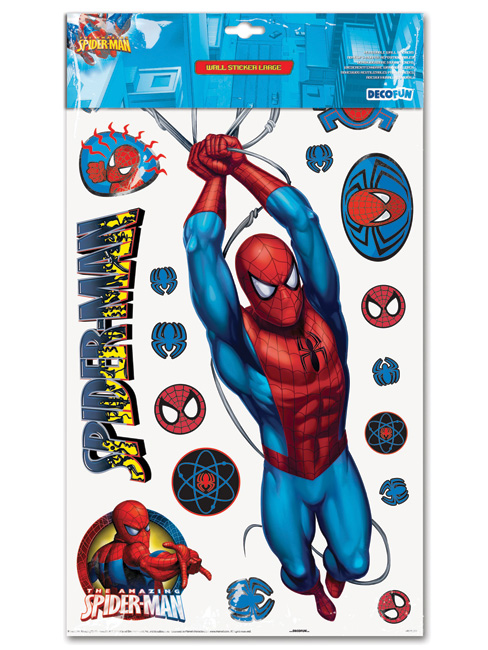 spiderman large wall stickers