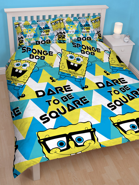 Spongebob Squarepants Happy Double Duvet Cover & Pillowcase Set