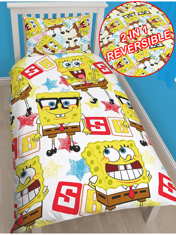 Spongebob Squarepants Legend Single Duvet Cover and Pillowcase Set