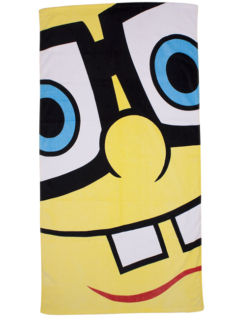 Spongebob Squarepants Framed Beach/Bath Towel