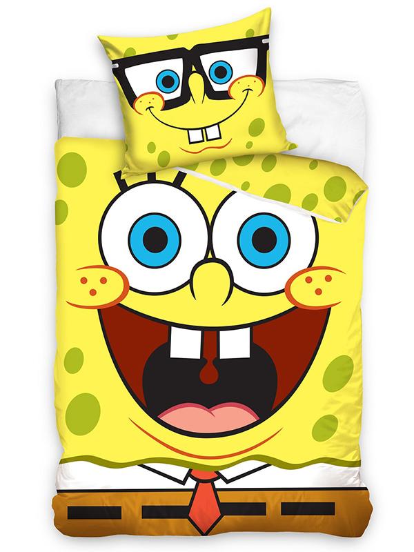 spongebob squarepants single duvet cover and pillowcase set