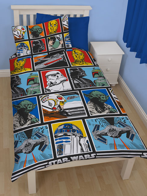 star wars force single rotary duvet cover and pillowcase set