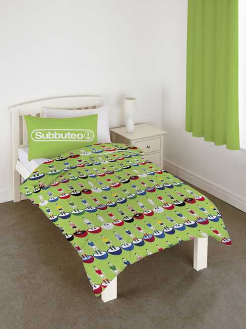 Subbuteo Football Single Duvet Cover and Pillowcase Set