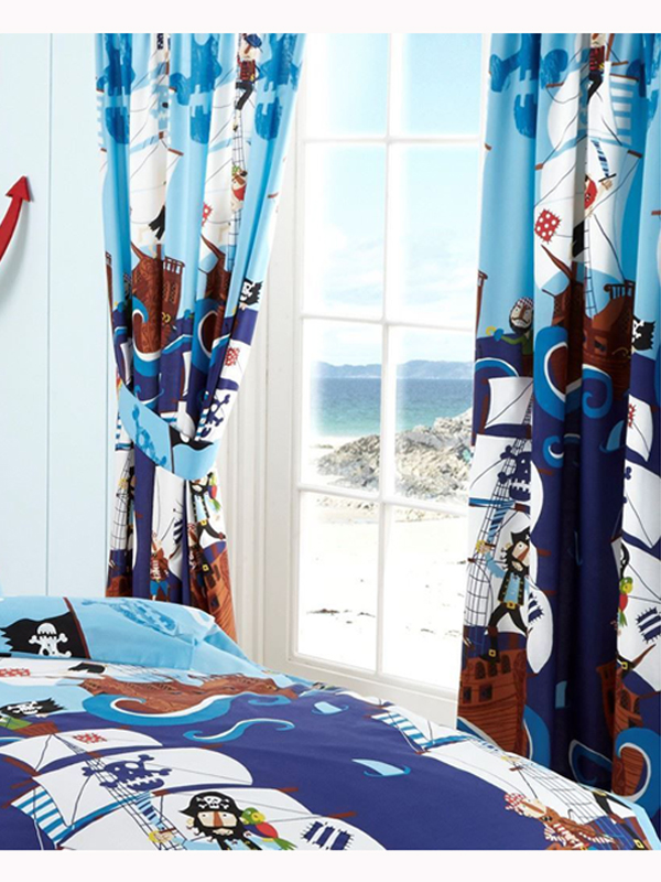 swashbuckle pirates lined curtains