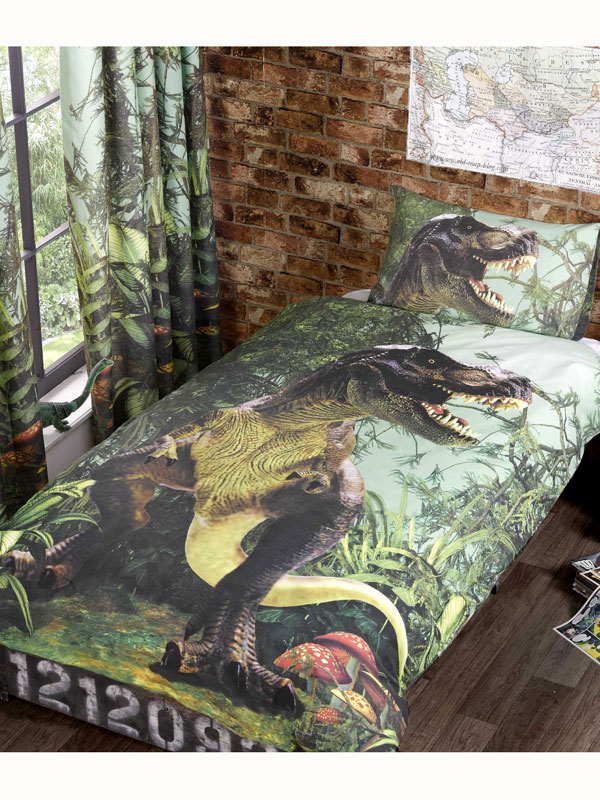 Price Right Home T-Rex Dinosaur Single Duvet Cover and Pillowcase Set