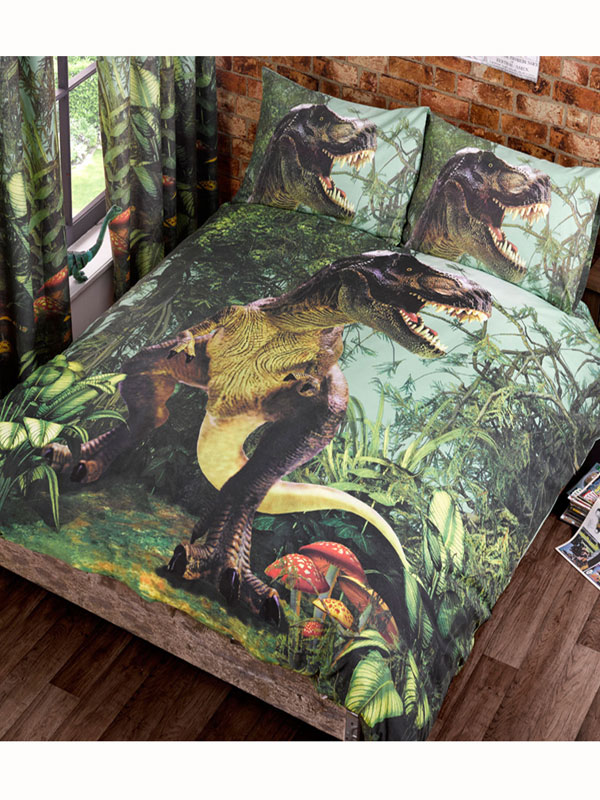 Price Right Home T-Rex Dinosaur Double Duvet Cover and Pillowcase Set