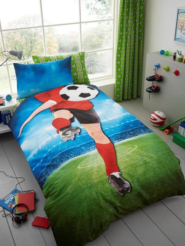 Footballer Selfie Single Duvet Cover and Pillowcase Set